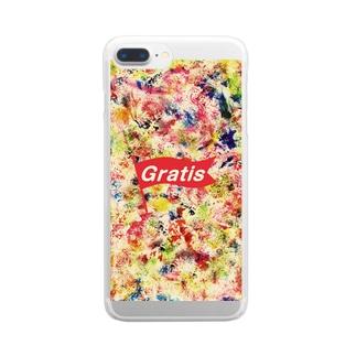 ペンキアート Clear smartphone cases