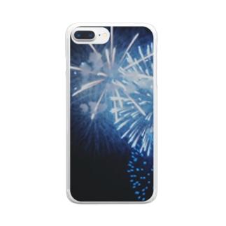 青々花火 Clear smartphone cases