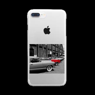 ボノモのクラシックカー Clear smartphone cases