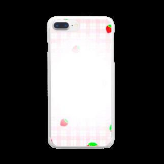 mero46のいちご Clear smartphone cases