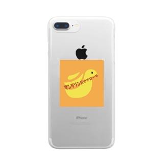 マンダリンバナナロール Clear smartphone cases