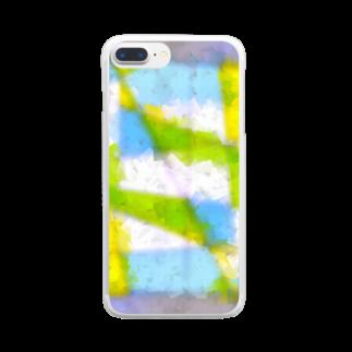水草の窓 Clear smartphone cases