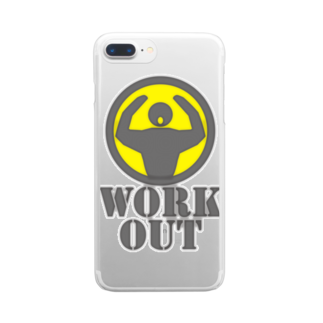 AURA_HYSTERICAのWorkout Clear smartphone cases