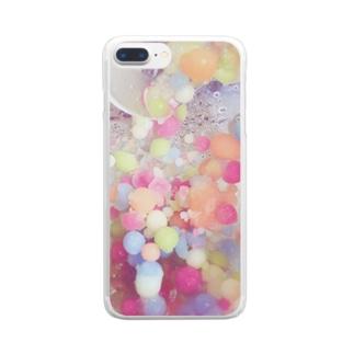 甘くて冷たい惑星 Clear smartphone cases