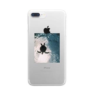 ウミガメ Clear smartphone cases