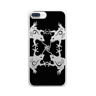 カエルノウタ Clear smartphone cases
