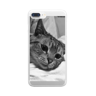うちのねこ たいらたん Clear smartphone cases