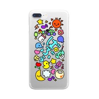 がちゃがちゃばぶぅ(カラフル) Clear smartphone cases