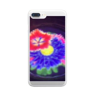 水に咲く花 Clear smartphone cases