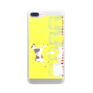 mow mow milk_2 Clear smartphone cases