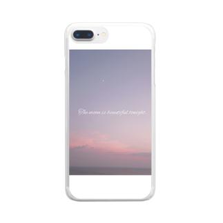 """""""月が綺麗ですね""""    Clear smartphone cases"""