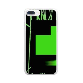 チカテツコウジのスマホケース Clear smartphone cases