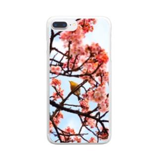 春は曙 Clear smartphone cases