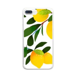 レモン Clear smartphone cases