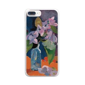 花とアイドルのある静物 Clear smartphone cases