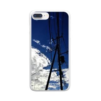 スカイブルー2 Clear smartphone cases