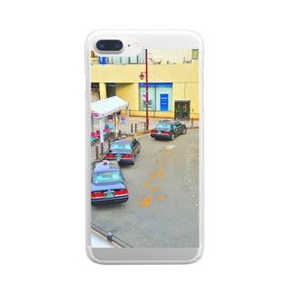 タクシー乗り場 Clear smartphone cases
