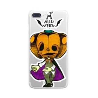 ハロウィンのかぼちゃくん。 Clear smartphone cases