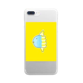 う〜っマンボウ! Clear smartphone cases