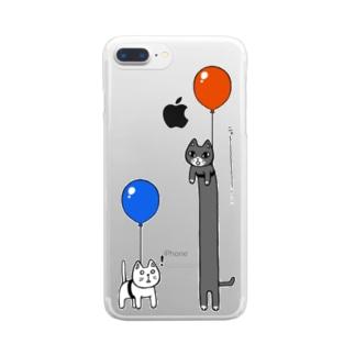のびるねこ Clear smartphone cases