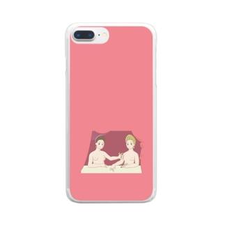 フォンテーヌブロー派 「ガブリエル・デストレとその妹」 Clear smartphone cases
