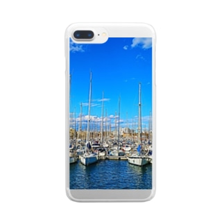 Barcelona_sea Clear smartphone cases