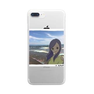 Beach Girl Photo Clear smartphone cases