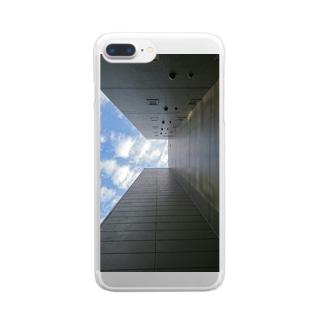 ビルの隙間 Clear smartphone cases