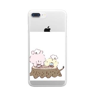 うさぴよの団らん Clear smartphone cases