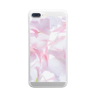 花びらスマホケース Clear smartphone cases