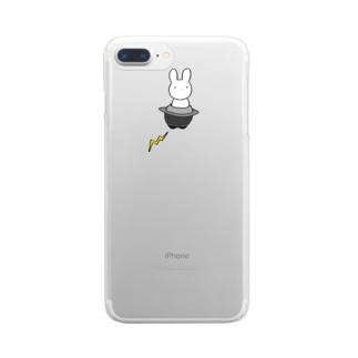 うさぎ宇宙侵略部隊 Clear smartphone cases