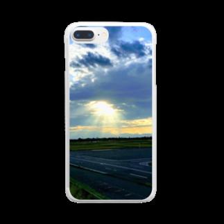 しいの降臨(鮮明Ver.) Clear smartphone cases