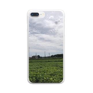 畑(翌日雨Ver.) Clear smartphone cases