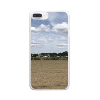 畑(お天気Ver.) Clear smartphone cases