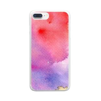 ジワジワ Clear smartphone cases