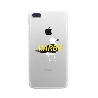 古臭いTori ロゴ Clear smartphone cases