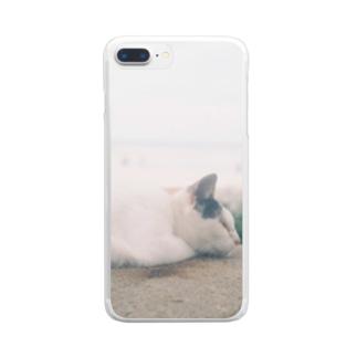 ねこちゃん Clear smartphone cases