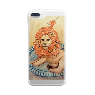 ナポリタンらいおん Clear smartphone cases