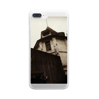 廃墟 Clear smartphone cases