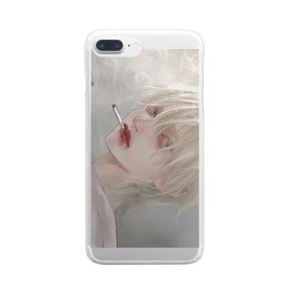 【ふたつ】iPhoneケース Clear smartphone cases