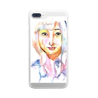 女子高生 Clear smartphone cases