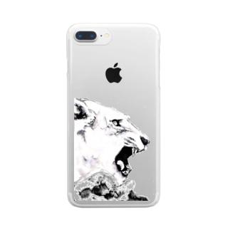シシカバぐっずの虎 Clear smartphone cases