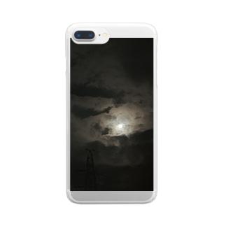 荒野の夜空 Clear smartphone cases