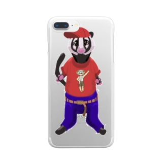 ハクビくんキャップバージョン Clear smartphone cases