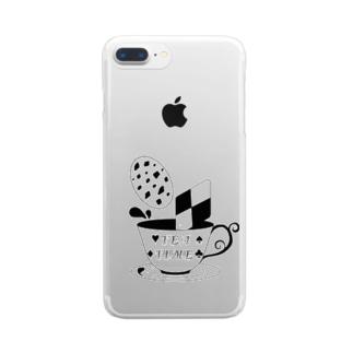 お茶会 Clear smartphone cases