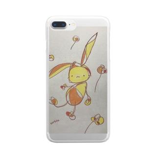 まったりうさぎA Clear smartphone cases