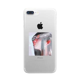 ひだりをみつめるおんなのしせんのさきには、 Clear smartphone cases