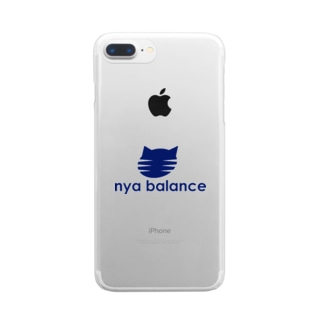 nya balance(blue) Clear smartphone cases