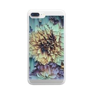 流れ落ちる花 Clear smartphone cases