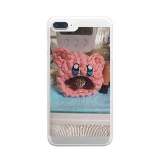 カービィー Clear smartphone cases